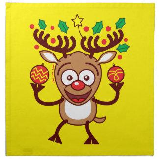 Cool Reindeer Decorating for Christmas Napkin