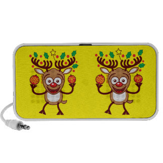 Cool Reindeer Decorating for Christmas PC Speakers