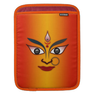 Cool religion face Indian mask goddess Sleeve For iPads