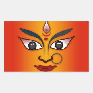 Cool religion face Indian mask goddess Rectangular Sticker