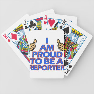 cool Reporter designs Bicycle Playing Cards