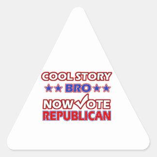 Cool Republican Party designs Triangle Sticker