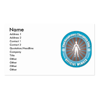 Cool Respiratory Therapists Club Business Card