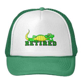 Cool retirement gator trucker hat