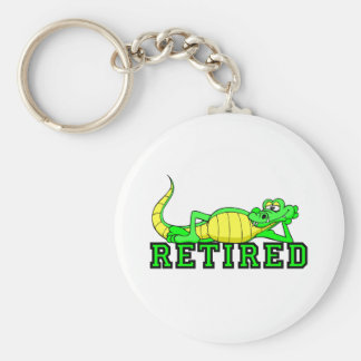 Cool retirement gator basic round button keychain