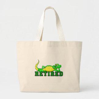 Cool retirement gator large tote bag