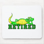 Cool retirement gator mouse pad
