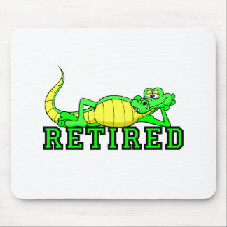 Cool retirement gator mouse pad