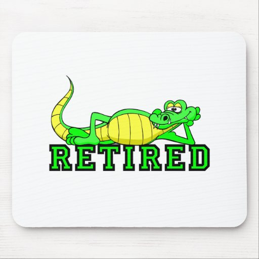 Cool retirement gator mouse pads