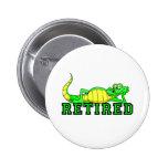 Cool retirement gator pinback button