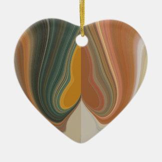 Cool Retro Abstract Graphic colorful Matata strand Ceramic Ornament