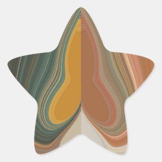 Cool Retro Abstract Graphic colorful Matata strand Star Sticker