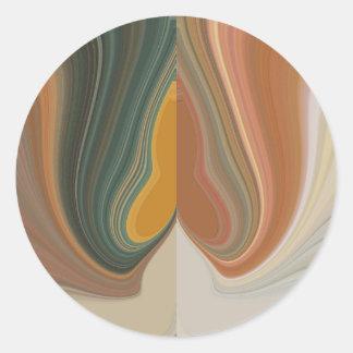 Cool Retro Abstract Graphic colorful Matata strand Classic Round Sticker