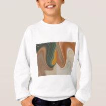 Cool Retro Abstract Graphic colorful Matata strand Sweatshirt