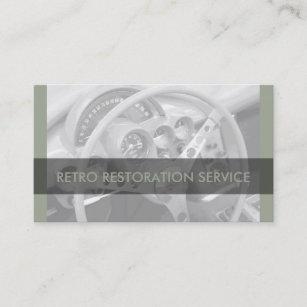 Retro car mechanics business cards zazzle cool retro automotive business cards reheart Image collections