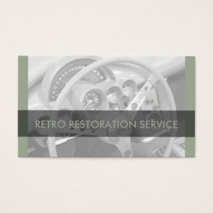 Retro auto mechanic business cards templates zazzle cool retro automotive business cards reheart Images