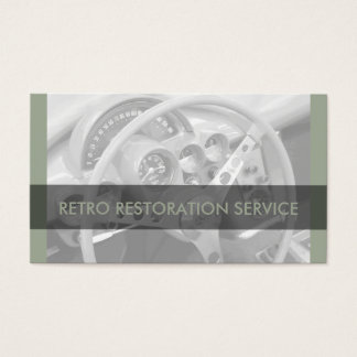 Retro auto mechanic business cards templates zazzle cool retro automotive business cards reheart Choice Image