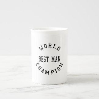 Cool Retro Best Men : World Champion Best Man Bone China Mugs
