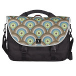 Cool Retro Blue Green Circle Pattern Custom Gifts Bag For Laptop