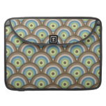 Cool Retro Blue Green Circle Pattern Custom Gifts Sleeve For MacBook Pro