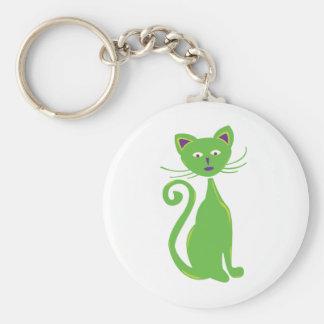 Cool Retro Cat Keychain