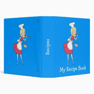 Cool Retro Chef Personalized  Recipe Binder