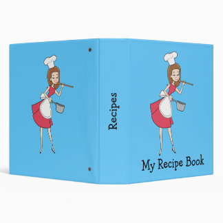 Cool Retro Chef Recipe Binder Personalized