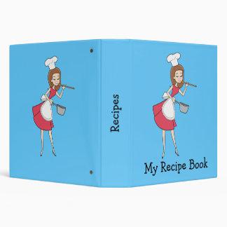 Cool Retro Chef Recipe Binder Personalized