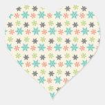 Cool Retro Christmas Holiday Pastel Snowflakes Sticker