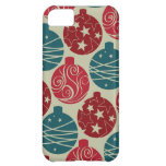 Cool Retro Christmas Ornaments Red Blue Gifts iPhone 5C Covers