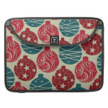 Cool Retro Christmas Ornaments Red Blue Gifts Sleeves For MacBooks