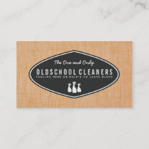 Cool Retro Cleaning Business Linen Look Business Card