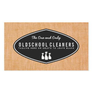 Cool Retro Cleaning Business Linen Look Double-Sided Standard Business Cards (Pack Of 100)