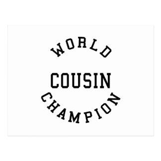 Cool Retro Cousins : World Champion Cousin Post Card