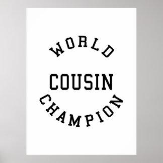 Cool Retro Cousins World Champion Cousin Posters