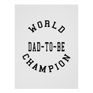Cool Retro Dads to Be : World Champion Dad to Be Poster
