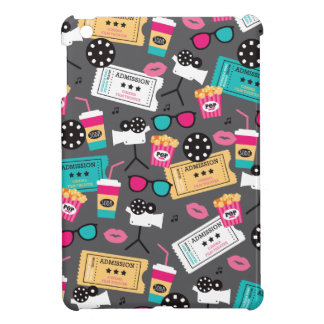 Cool retro film night and popcorn pattern cover for the iPad mini