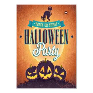 Cool Retro Halloween Fun Grunge Party Invitation
