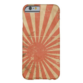 Cool retro Japanese Rising Sun. Vintage Barely There iPhone 6 Case