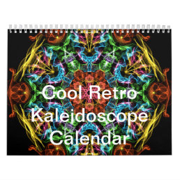 Cool Retro Kaleidoscope Calendar