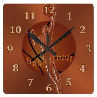 Cool Retro Meets Techno Basketball Clocks for Guys