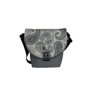 Cool Retro Paisley Messenger Bag