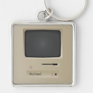 Cool Retro PC Computer Keychain