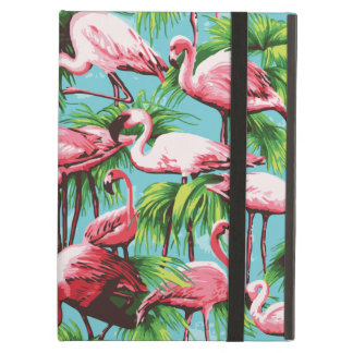 Cool Retro Pink Flamingoes iPad Air Covers