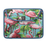 Cool Retro Pink Flamingoes Macbook Pro Sleeve