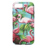Cool Retro Pink Flamingos iPhone 7 Case