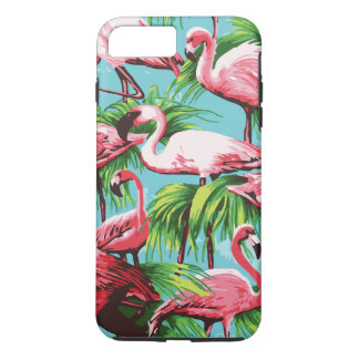 Cool Retro Pink Flamingos iPhone 8 Plus/7 Plus Case