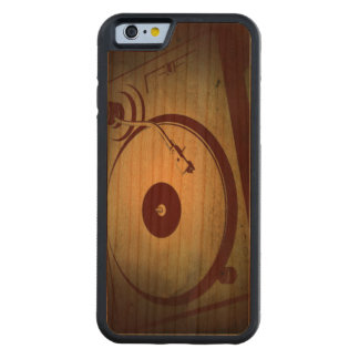 Cool Retro Record Player Carved® Cherry iPhone 6 Bumper Case