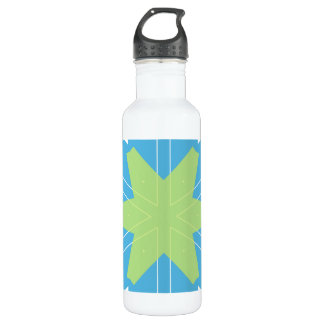 Cool Retro style colorful patterns Water Bottle