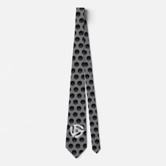 COOL Retro Vintage Chrome 45 spacer DJ Print Neck Tie